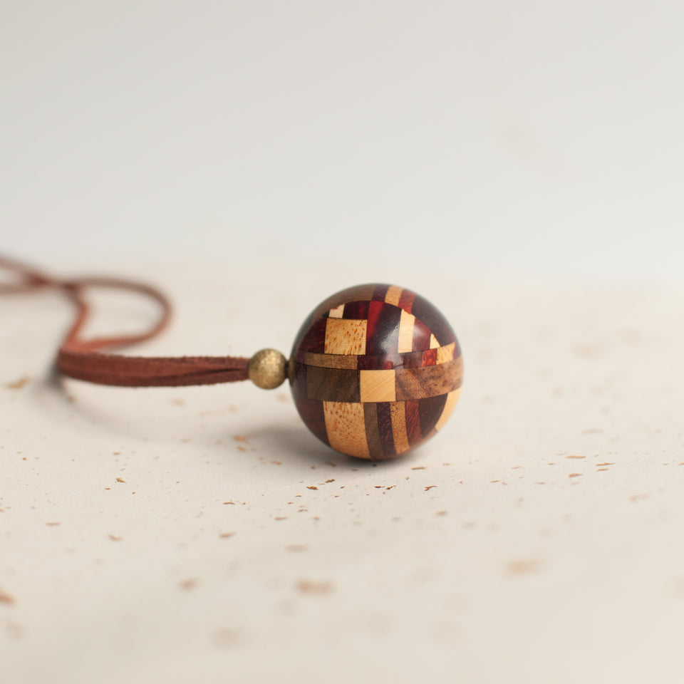 Handmade Mondrian Series Sphere Necklace