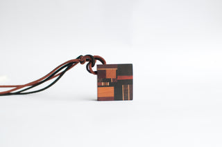 Handmade Mondrian Square Necklace(Large)