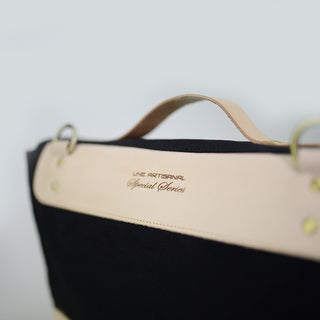 Handmade Cotton Canvas and Leather Messenger Bag