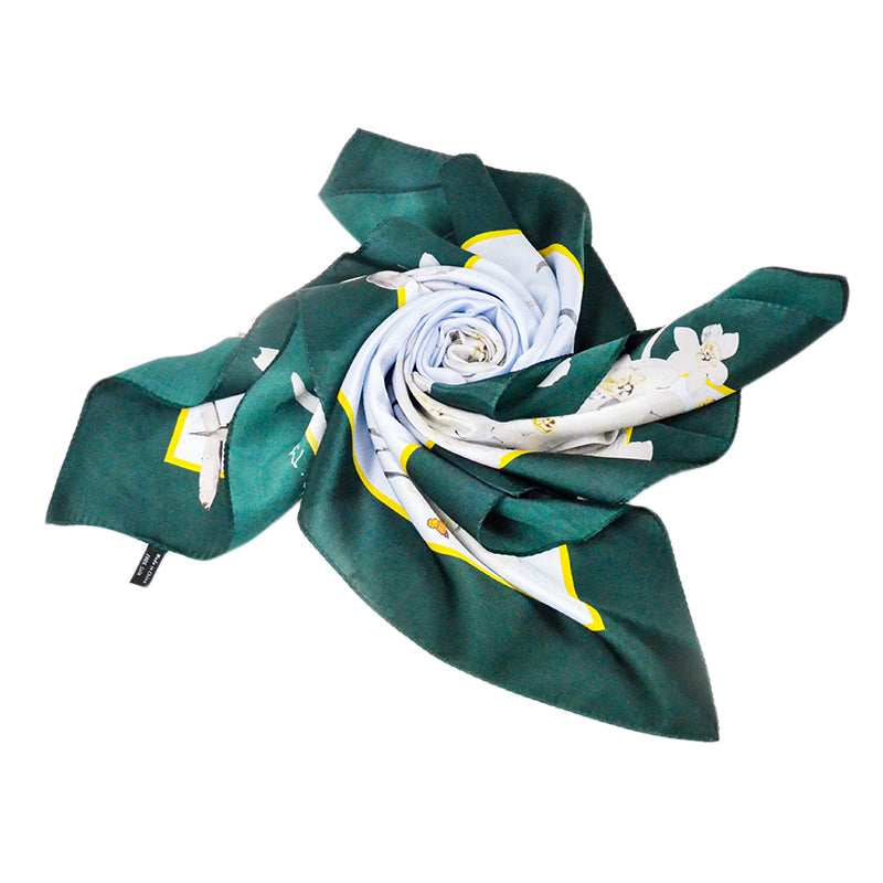 12mm Silk Satin Scarf - Narcissus Artist Oil