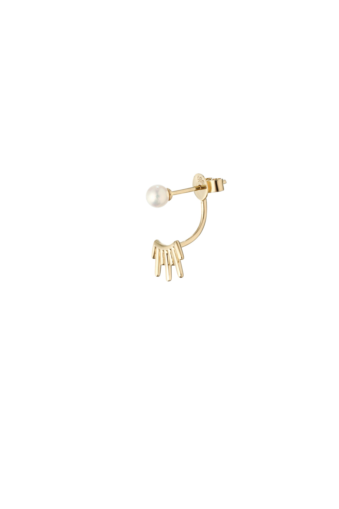 14k Gold and Japanese AKOYA Pearl Sunset Earring (1 Piece)