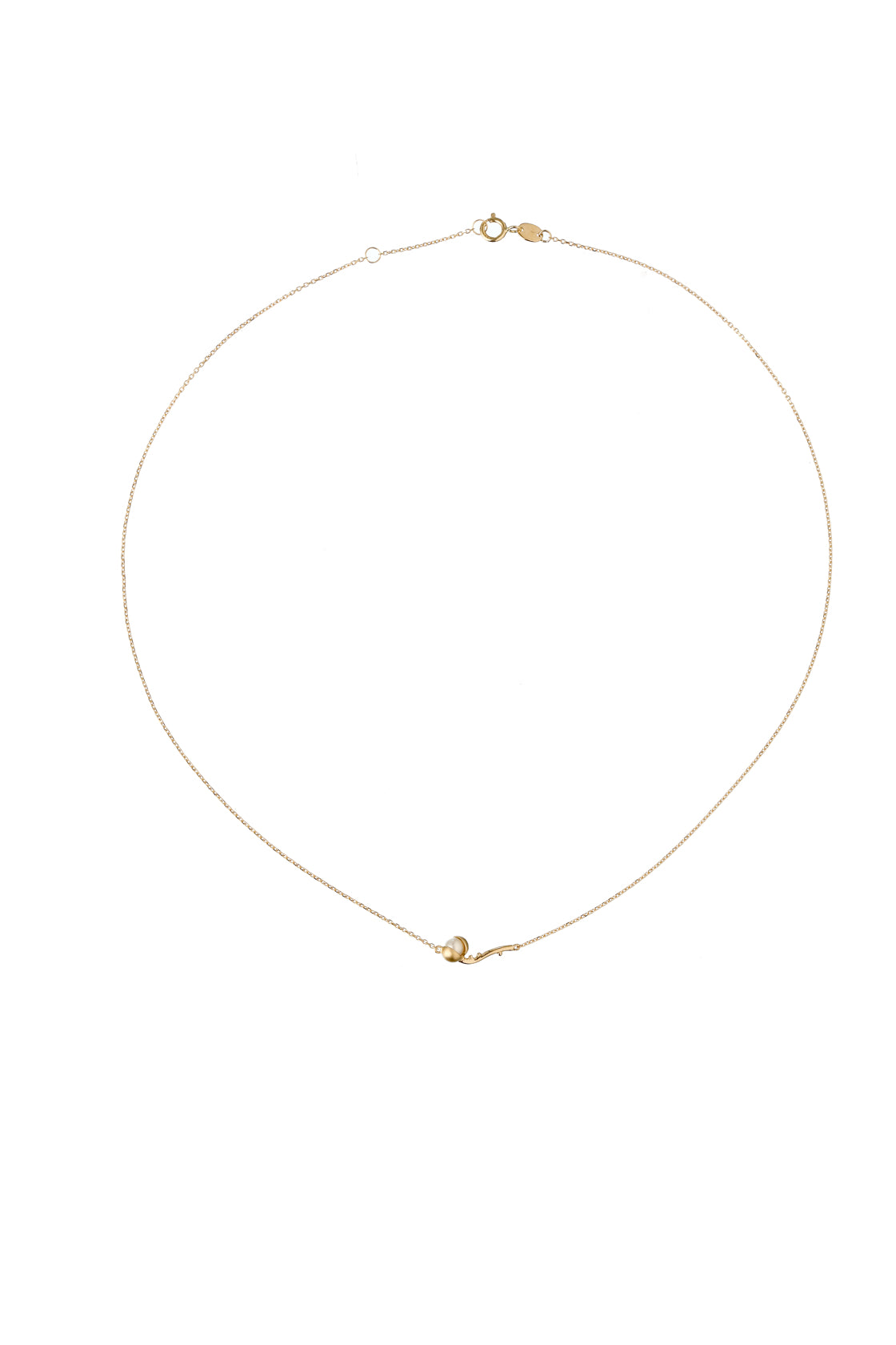 14k Gold Peppercorn Branch and Japanese AKOYA Pearl Necklace