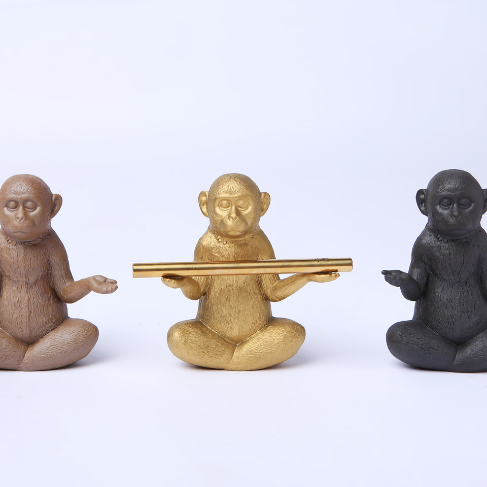 Meditating Monkey Pen Holders