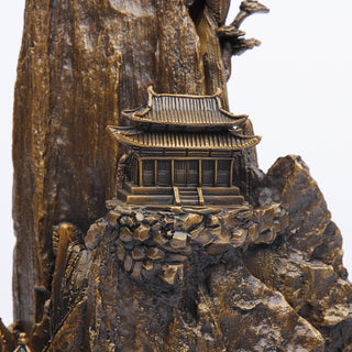 Bronze Mountaintop Home Statue