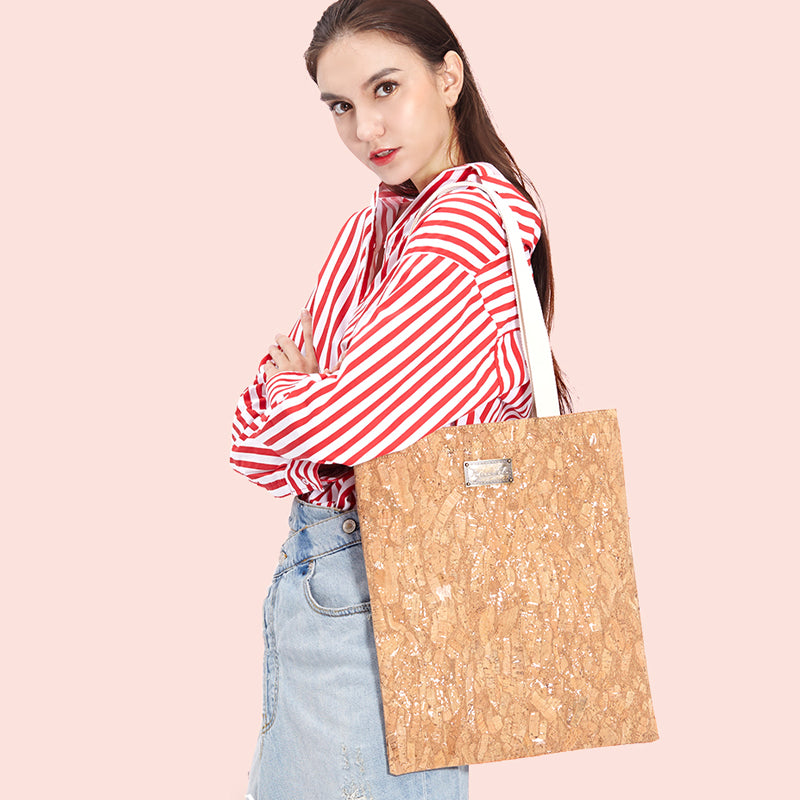 Simple Handmade Cork Shopper