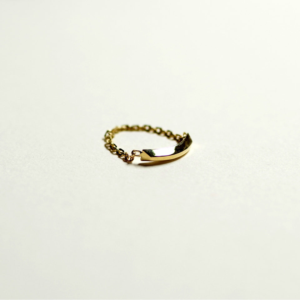 18k Gold Bar Ring