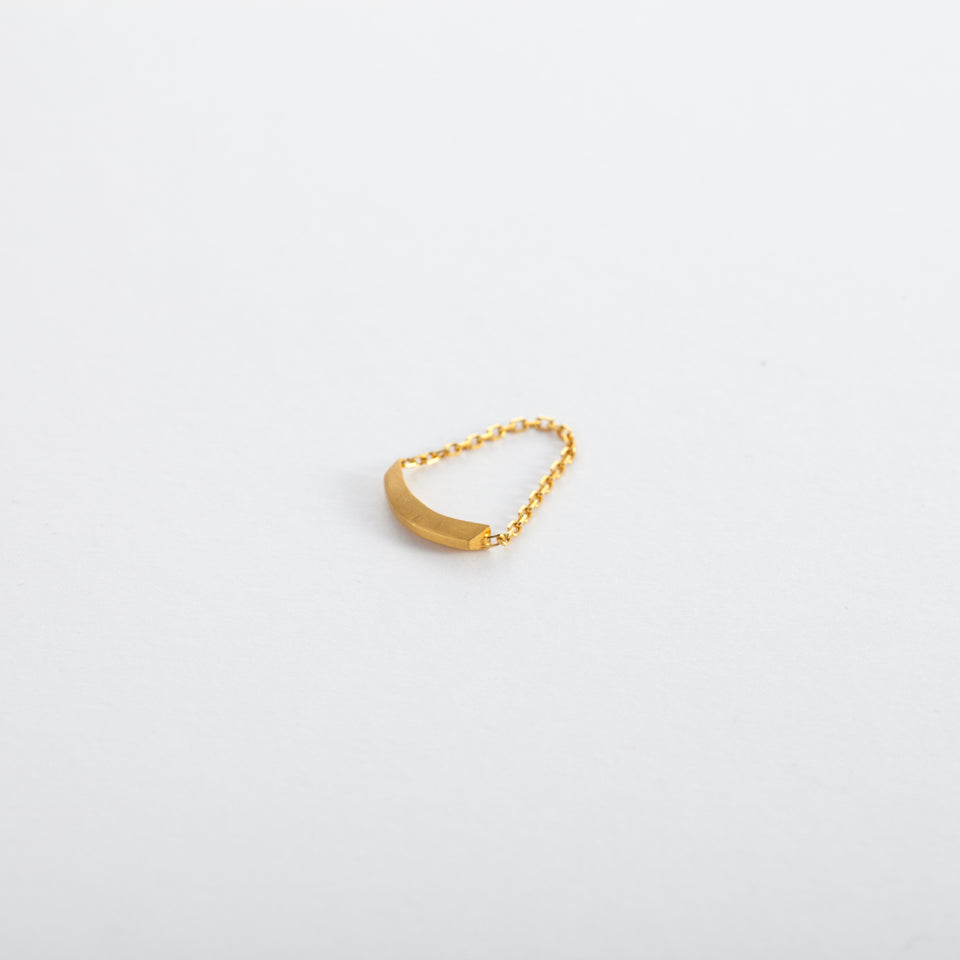 24k Gold Bar Ring