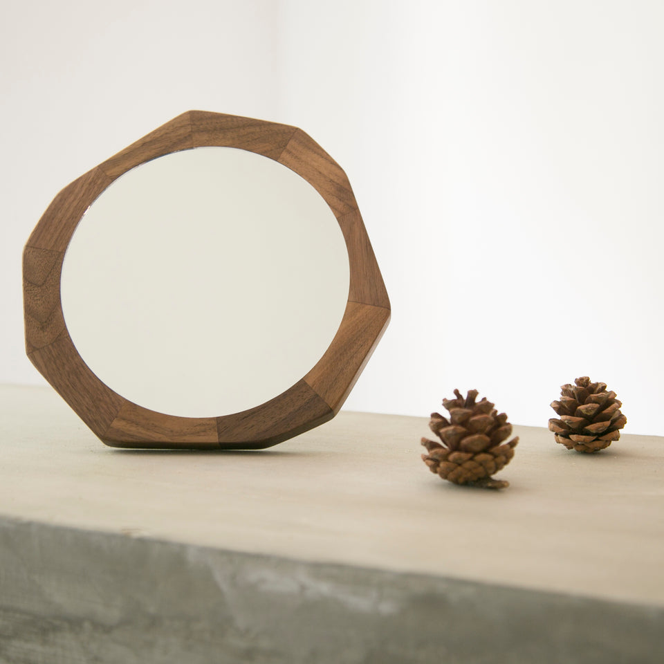 North American Black Walnut Face Mirror