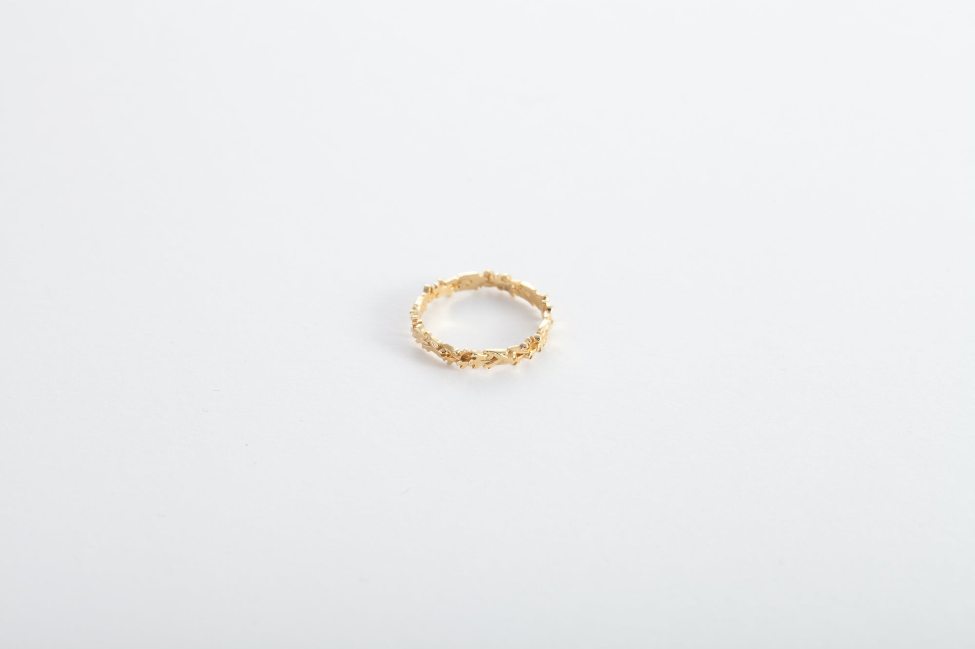 18k Gold Ring of Thorns