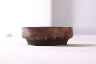 Beech, North American Black Walnut and Brazilian Rosewood Bowl