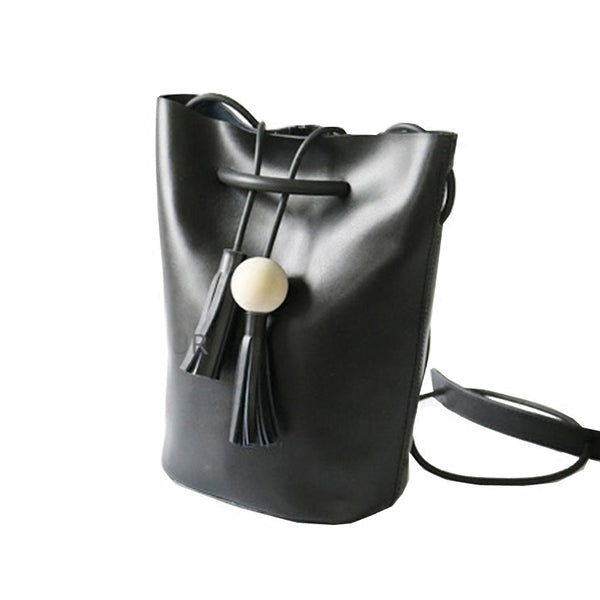 Gothic Black Leather Hobo Bag