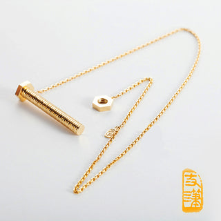 18k Screw Necklace