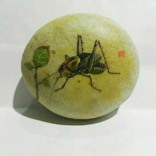 Handmade Painting Stone-Insect