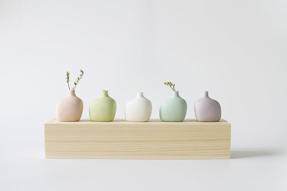 Handmade Ceramic Baby Vase(5-Piece Set)