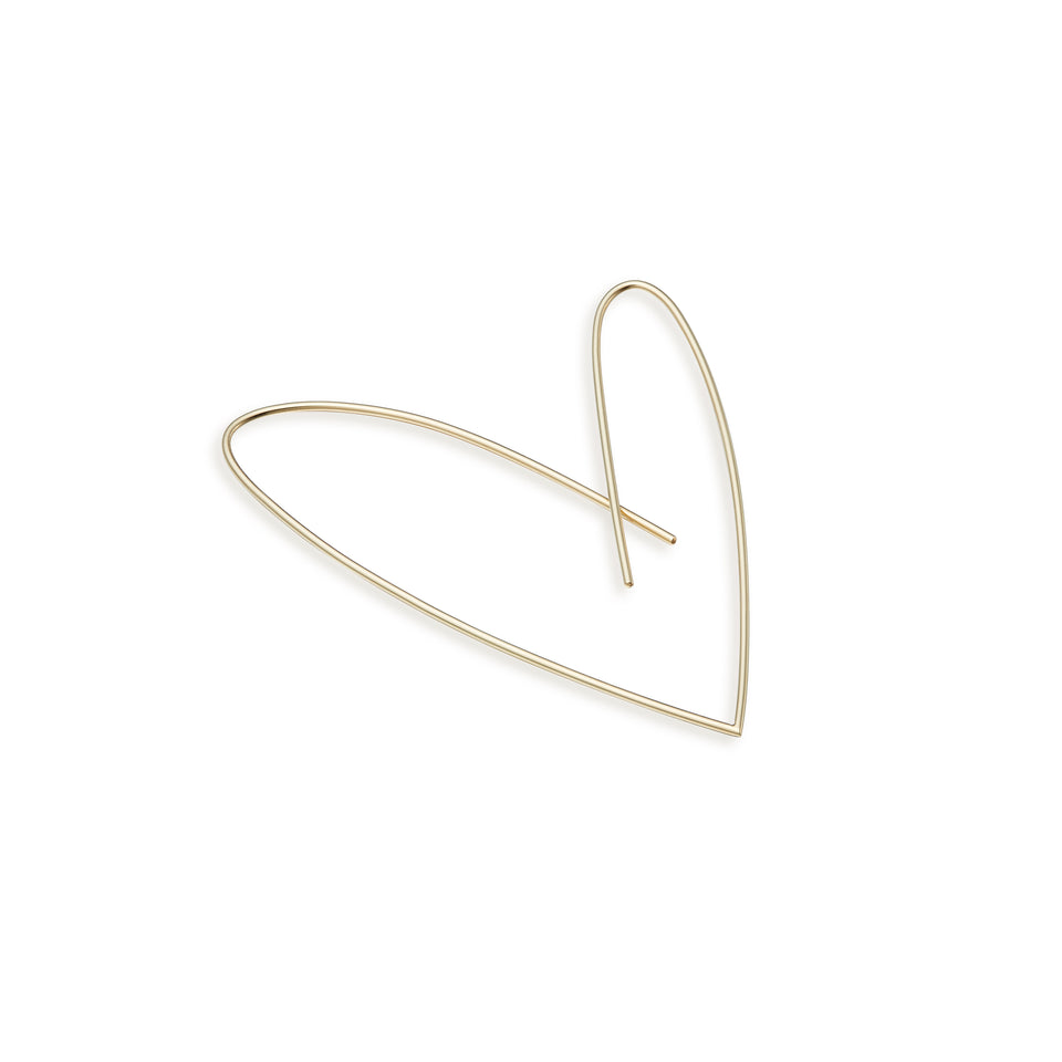 18K Gold Heart-shaped Earring