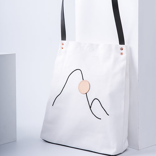 Handmade The View Series Canvas Handbag - QiFu