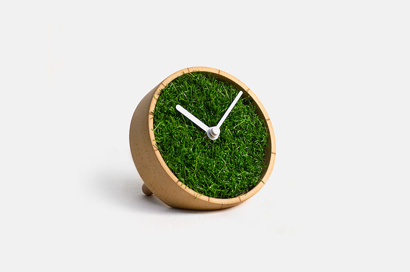 Grass Desk Clock