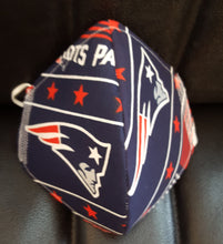 Load image into Gallery viewer, Patriots Print Fabric Mask- - Germ Freak by DenaTyson