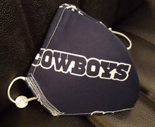 Load image into Gallery viewer, Dallas Cowboys Fabric print Mask