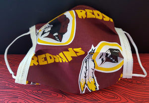 Redskins Inspired Germ Freak Designer Face Mask by Dena Tyson - Germ Freak by DenaTyson