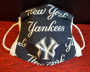 New York Yankees- Inspired Germ Freak Designer face Mask by Dena Tyson - Germ Freak by DenaTyson