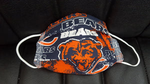 Chicago Bears- Chicago Sox Print Fabric face mask