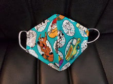 Load image into Gallery viewer, Scooby Doo print face mask -
