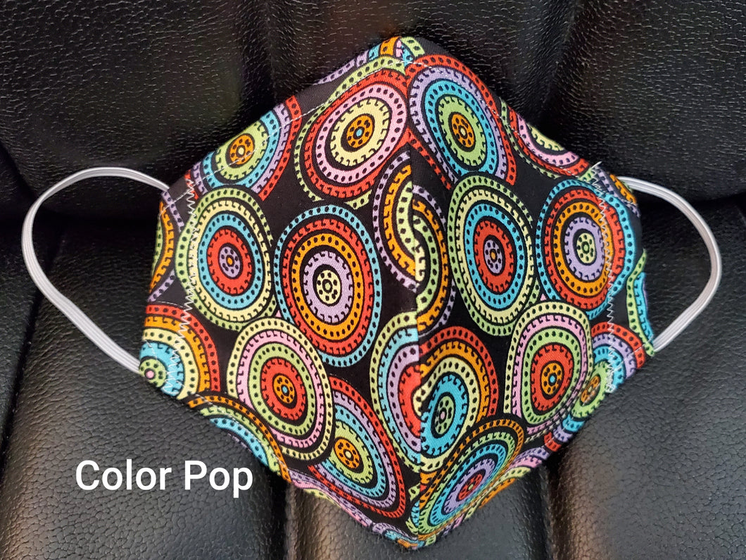 Color Pop multi colored face mask- - Germ Freak by DenaTyson