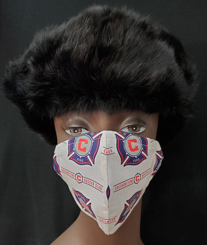 Chicago Fire Print face mask- - Germ Freak by DenaTyson