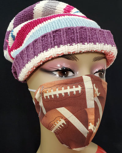 Football Print face mask - Germ Freak by DenaTyson