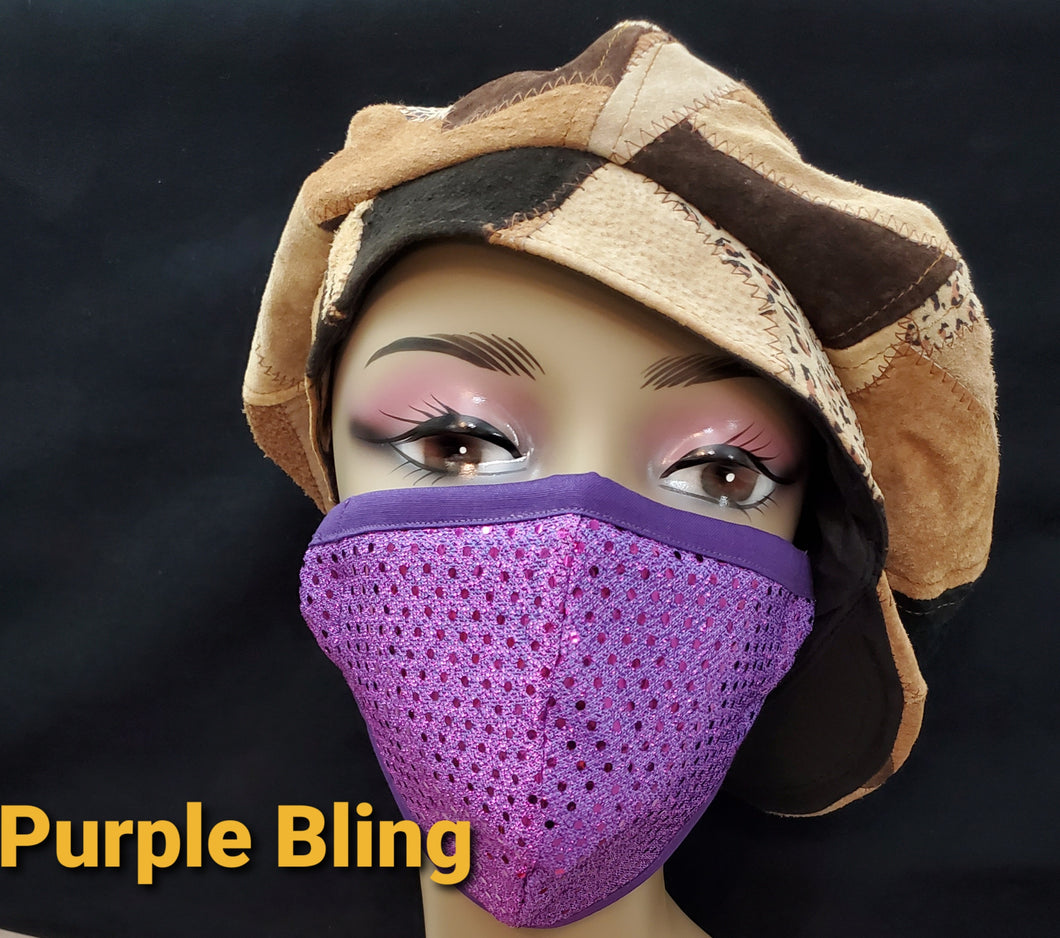 Beautiful Sequined face mask- Bling face mask-