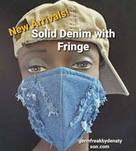Load image into Gallery viewer, Denim Face mask - Germ Freak by DenaTyson
