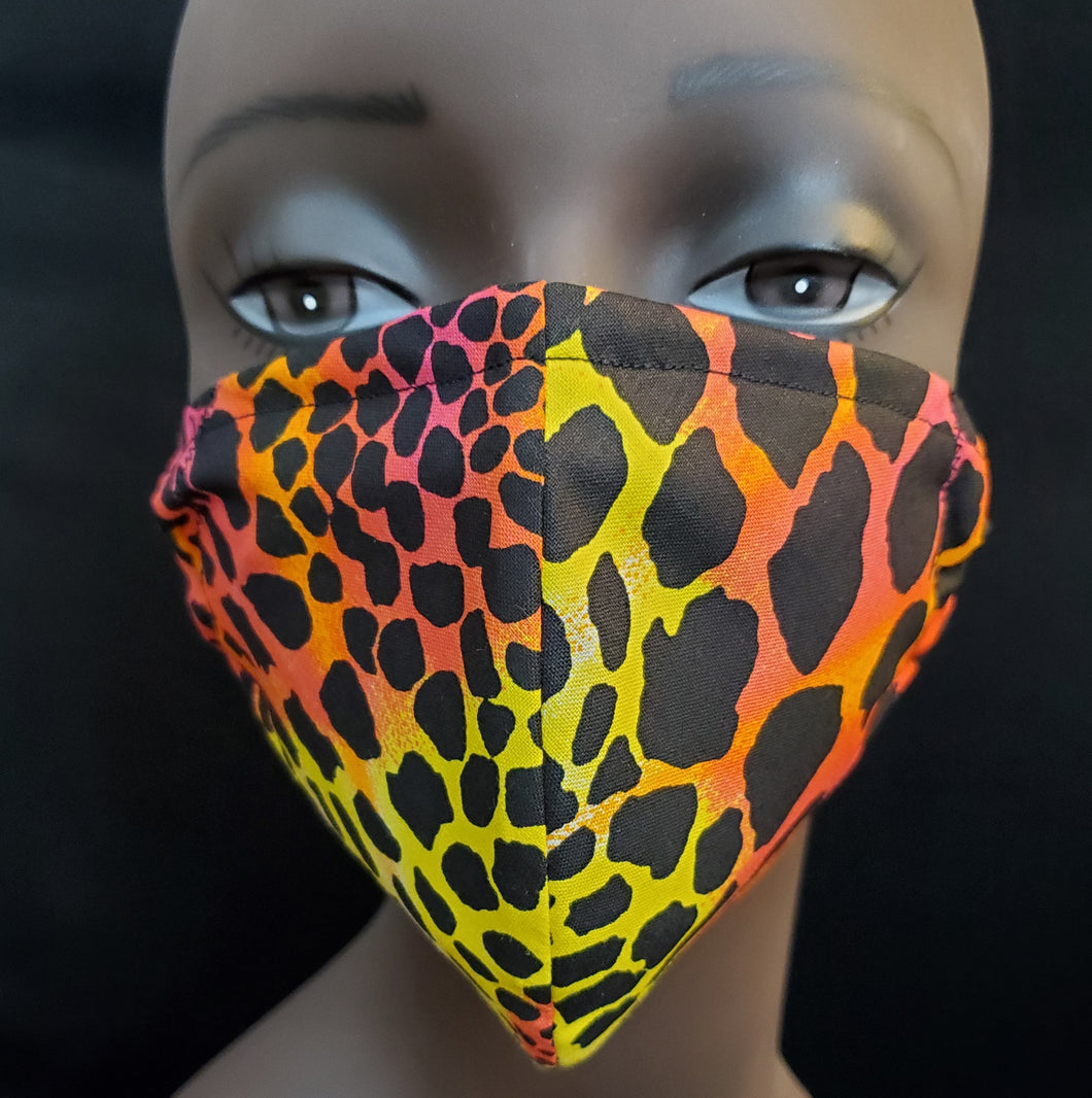 Leopard Print Face Mask - Germ Freak by DenaTyson