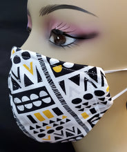 Load image into Gallery viewer, Tribal Print face mask- Kente Print face mask