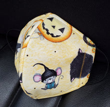 Load image into Gallery viewer, Enchanted Bandido Mouse Cats and Pumpkins-