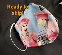 Load image into Gallery viewer, I Love Lucy Fabric Print Mask