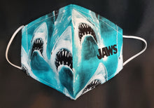 Load image into Gallery viewer, Jaws Fabric Print Face Mask-