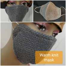 Load image into Gallery viewer, Beautiful Knit Face Mask