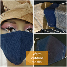 Load image into Gallery viewer, Blue Polyester Face Mask