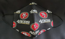 Load image into Gallery viewer, 49ers Print Fabric face mask