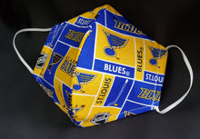 Load image into Gallery viewer, St Louis Blues Print Fabric face mask