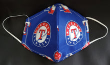 Load image into Gallery viewer, Texas Rangers Print Fabric face mask