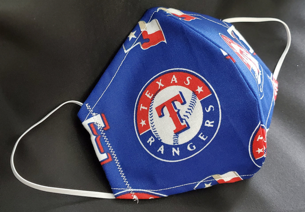 Texas Rangers Print Fabric face mask