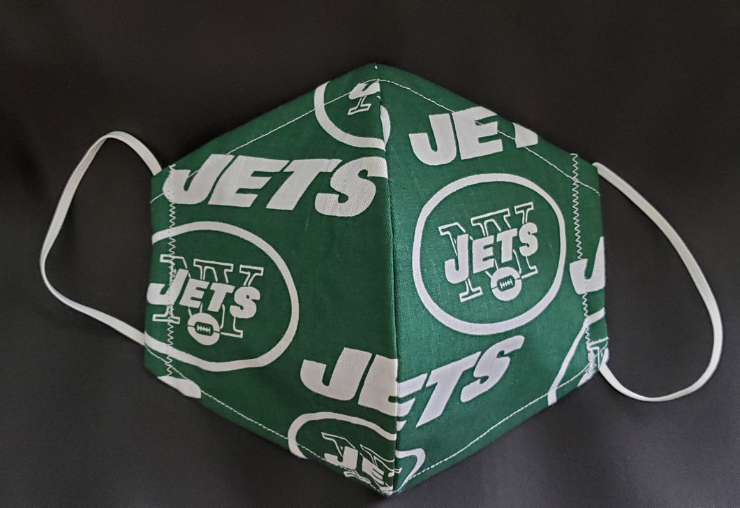 Jets Print Fabric face mask
