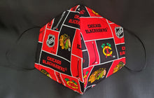 Load image into Gallery viewer, Chicago Blackhawks Print Fabric face mask
