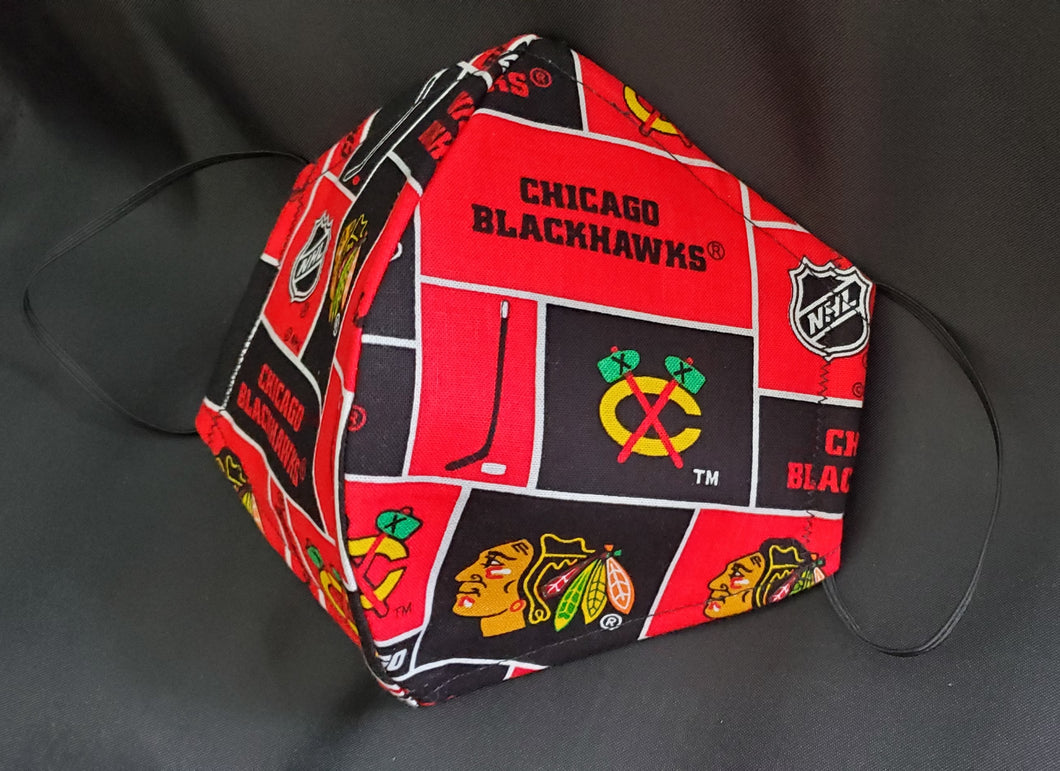 Chicago Blackhawks Print Fabric face mask
