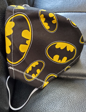 Load image into Gallery viewer, Batman Fabric Print Face Mask