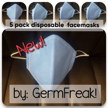 Load image into Gallery viewer, Disposable face mask, Germ Freak Disposable face mask - Germ Freak by DenaTyson