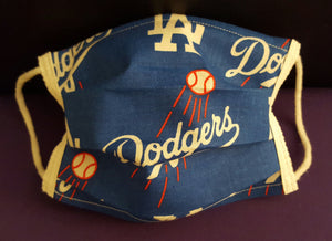 Dodgers Inspired- Germ Freak Designer Face Mask by Dena Tyson - Germ Freak by DenaTyson