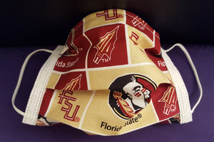 FSU Florida State Inspired- Germ Freak Designer Face Mask by Dena Tyson - Germ Freak by DenaTyson